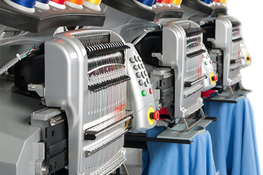 Melco EMT16 Embroidery Machine.